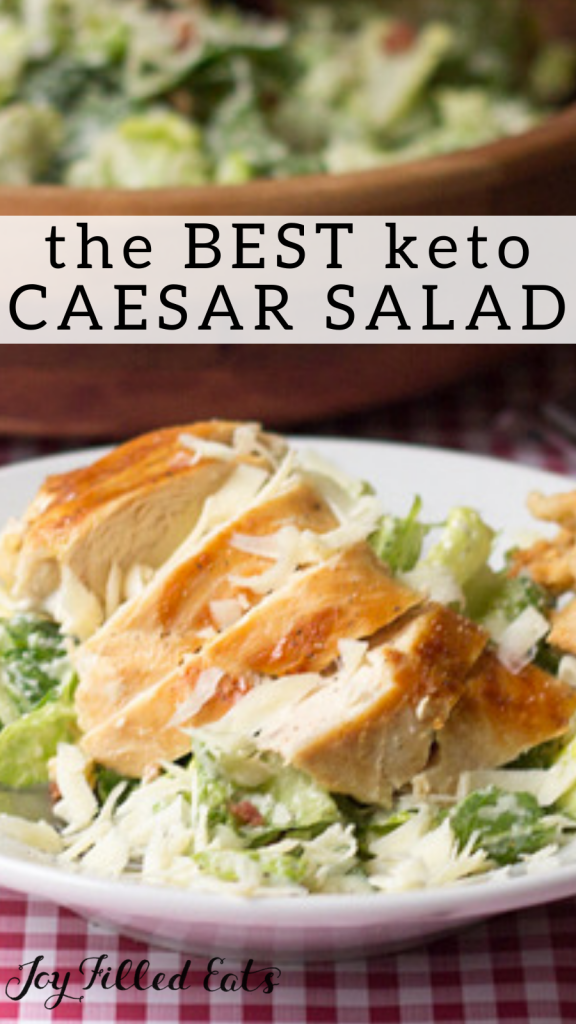 pinterest image for keto caesar salad