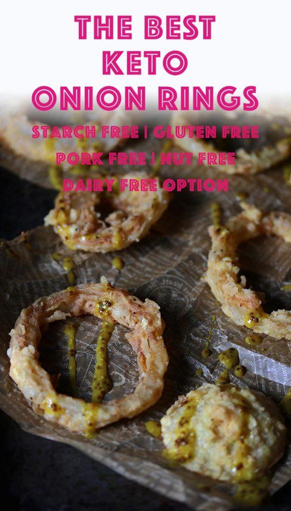 pinterest image for keto onion rings