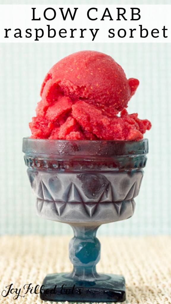 pinterest image for raspberry sorbet