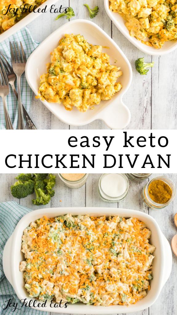 pinterest image for keto chicken divan