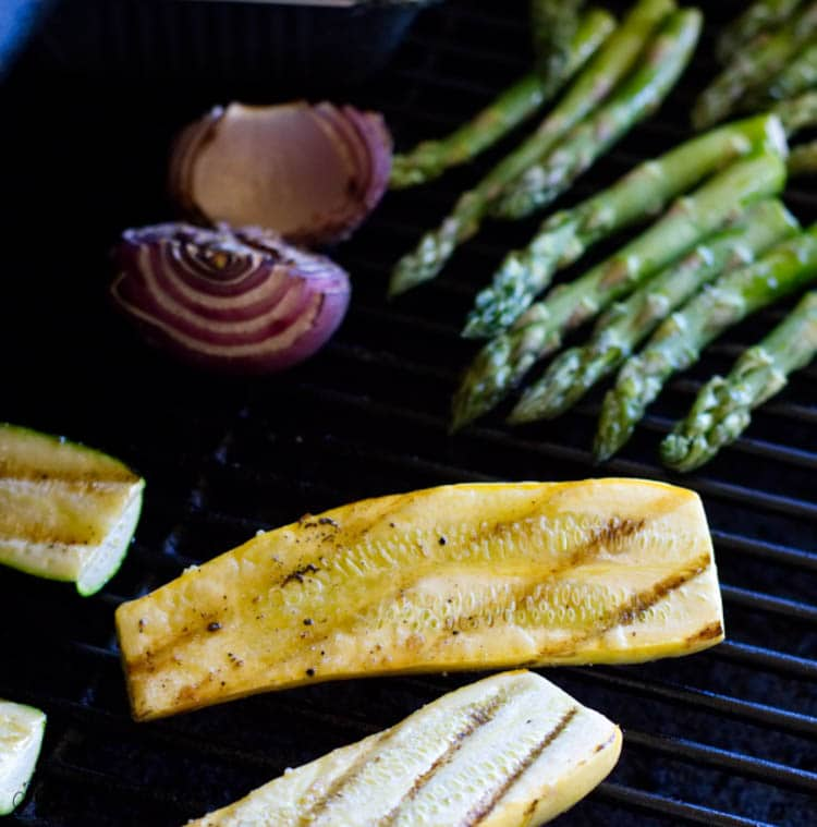 vegetables on the grill