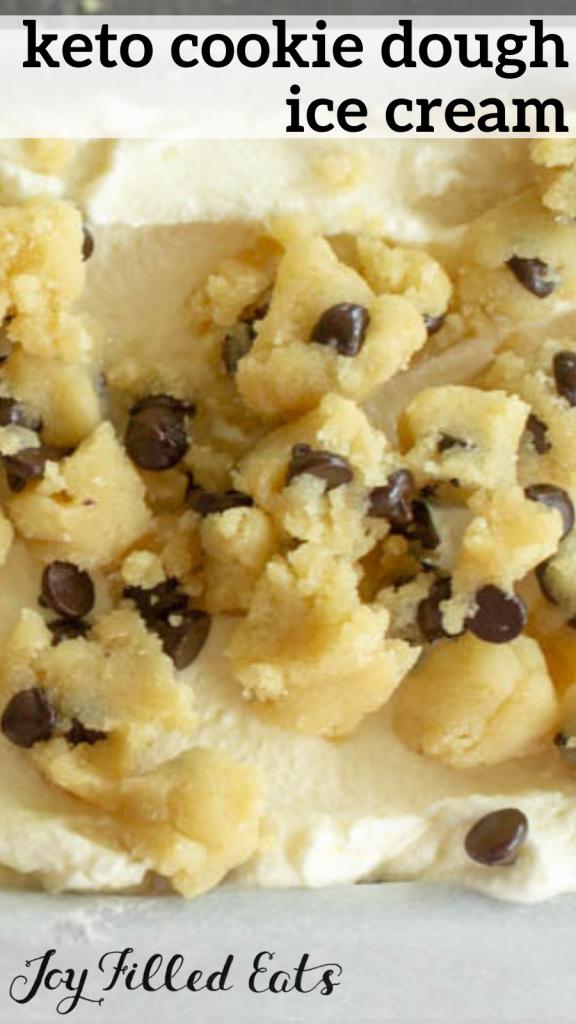 pinterest image for keto cookie dough ice cream