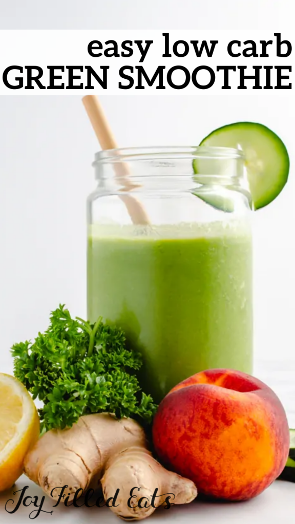 pinterest image for low carb green smoothie