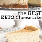 pinterest image for keto cheesecake