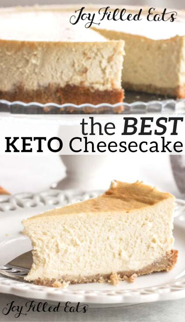 pinterest image for keto cheesecake