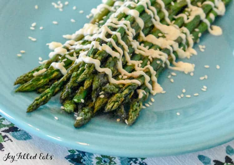 finished dish from how to grill asparagus