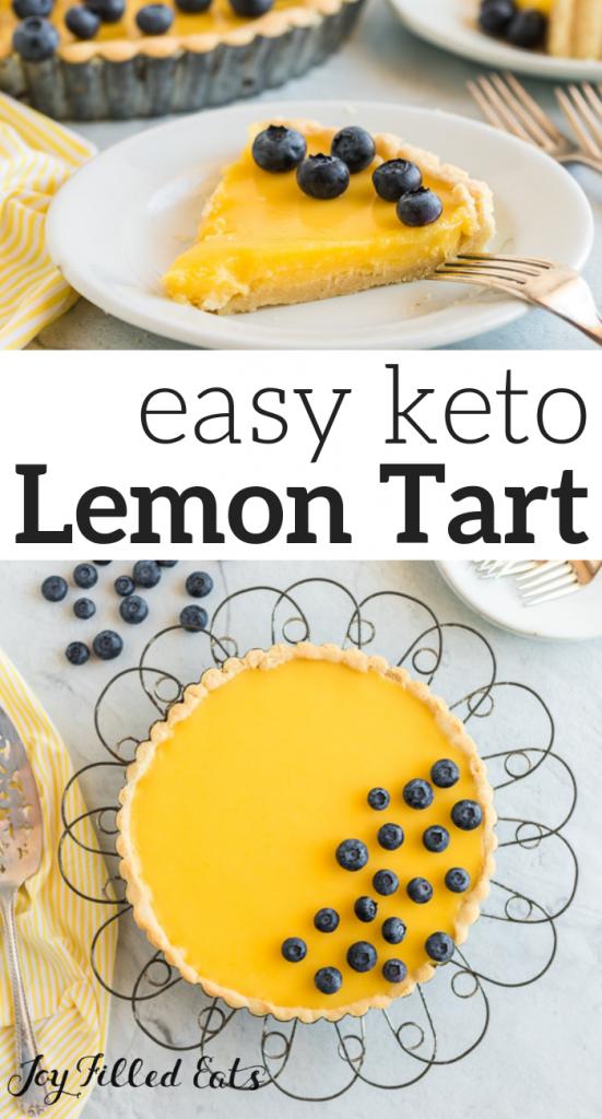 pinterest image for keto lemon tart