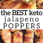 pinterest image for bacon jalapeno poppers
