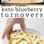 pinterest image for keto blueberry turnovers