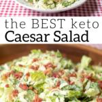 pinterest image for keto Caesar salad