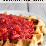 pinterest image for coconut waffle for one