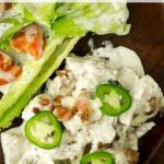 pinterest image for keto jalapeno popper chicken casserole