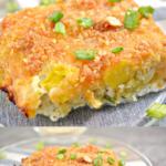 pinterest image for keto yellow squash casserole