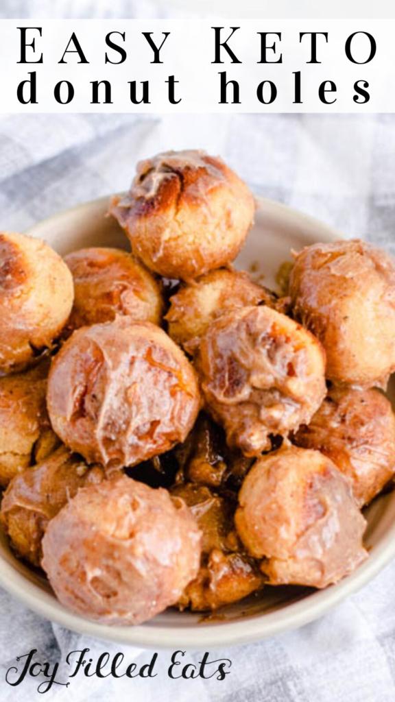 pinterest image for keto donut holes