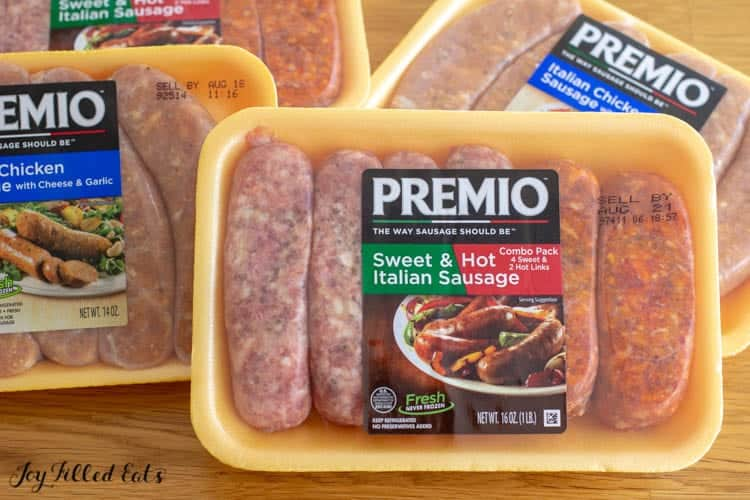 packs of premio sausage