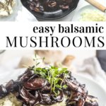 pinterest image for balsamic mushrooms