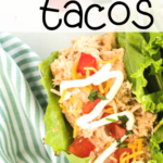 pinterest image for keto chicken tacos
