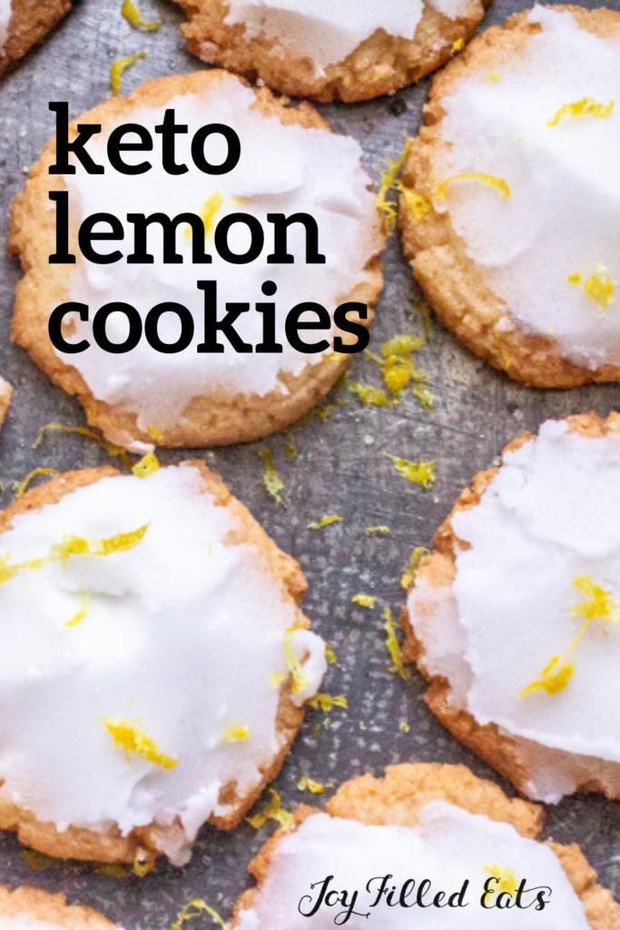pinterest image for low carb lemon cookies