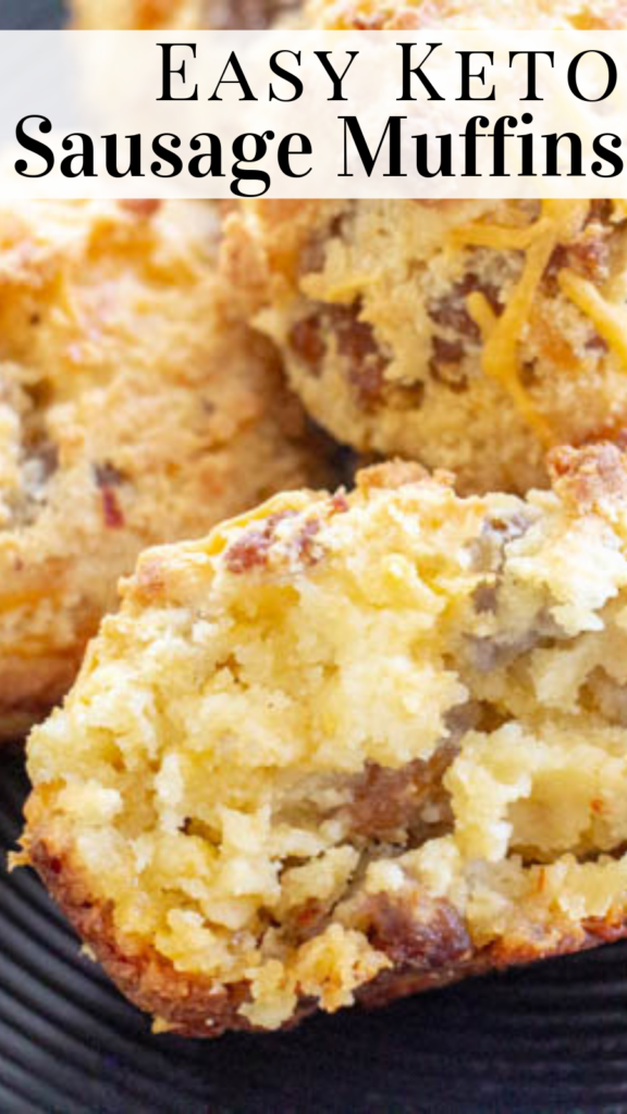 pinterest image for keto sausage muffins