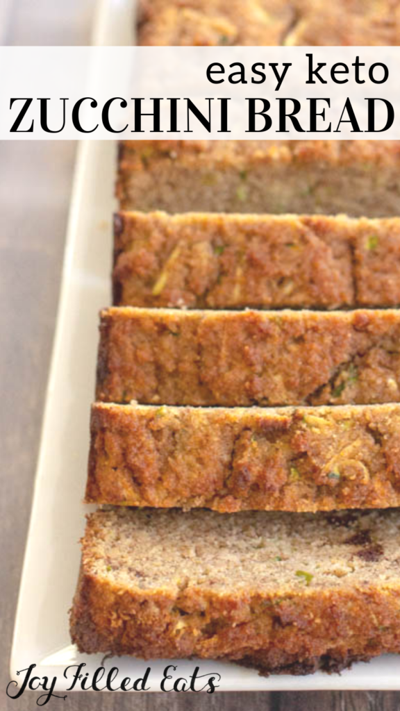 pinterest image for keto zucchini bread