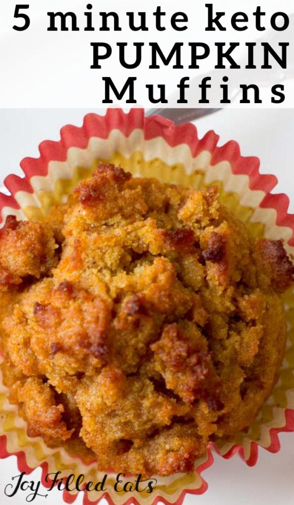 pinterest image for keto pumpkin muffins