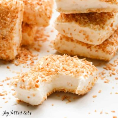 Sugar Free Marshmallows with Toasted Coconut