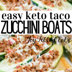 pinterest image for taco zucchini boats