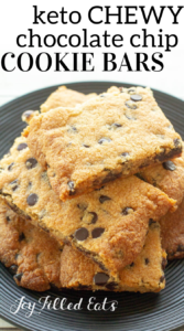 pinterest image for chocolate chip cookie bars