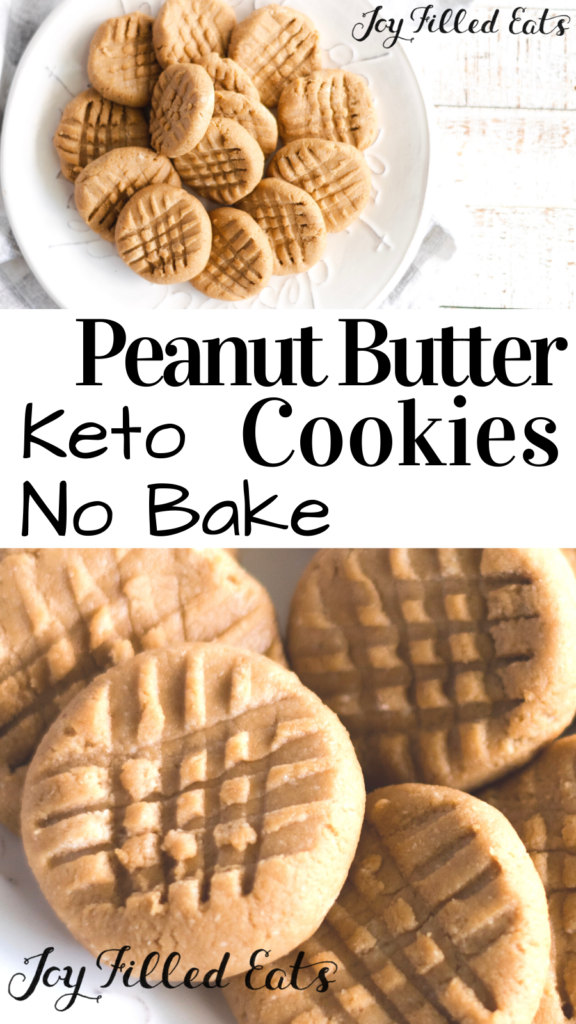 pinterest image for peanut butter no bake cookies