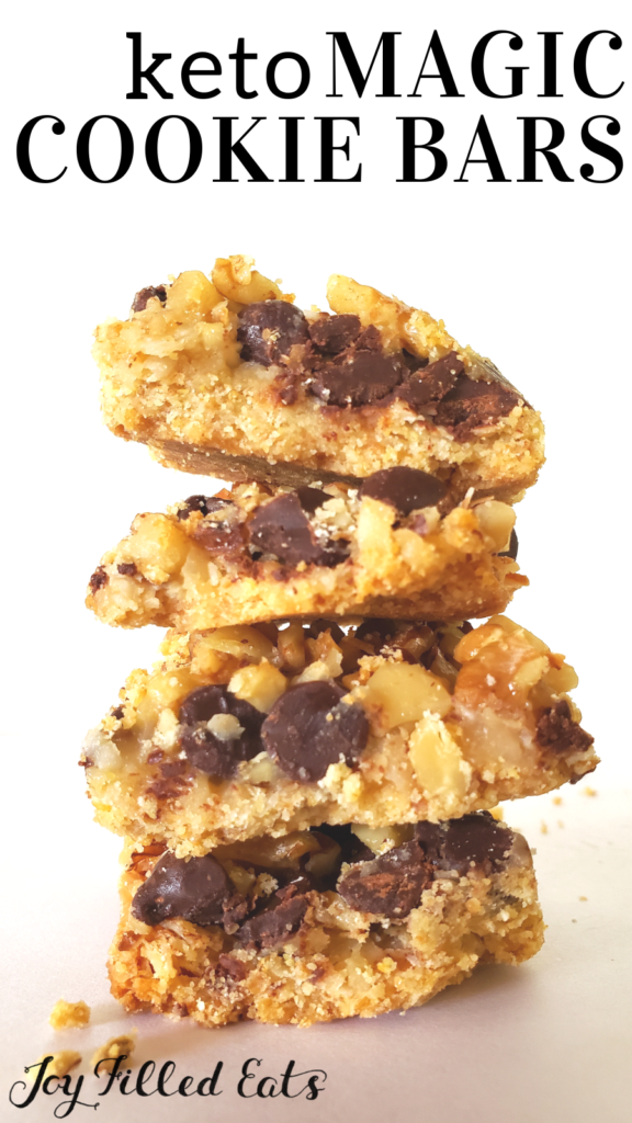 pinterest image for keto magic cookie bars