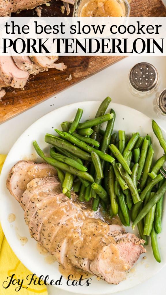 pinterest image for crock pot pork tenderloin