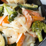 pinterest image for shrimp primavera