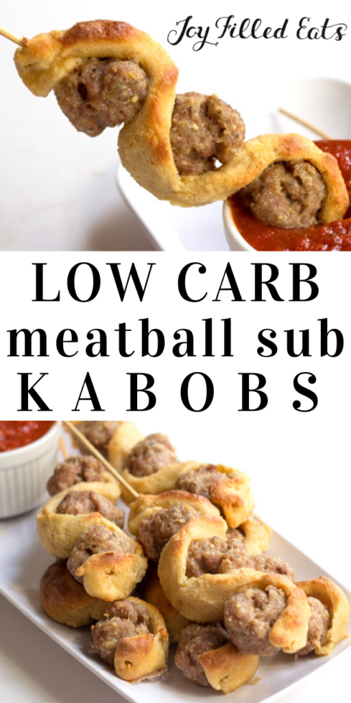 pinterest image for meatball sub kabobs