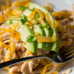 pinterest image for keto salsa chicken