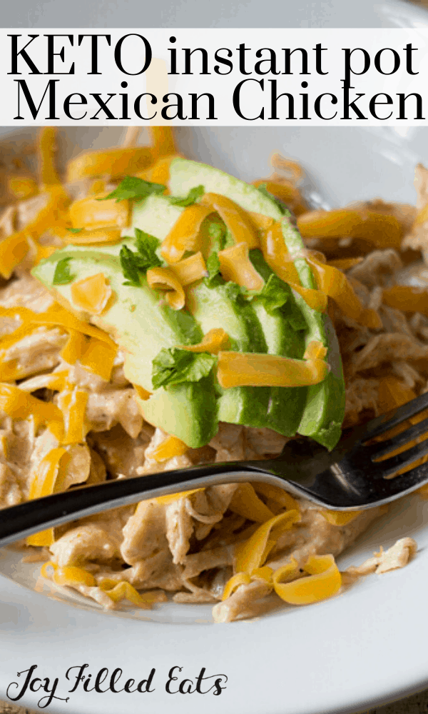 pinterest image for keto instant pot Mexican chicken