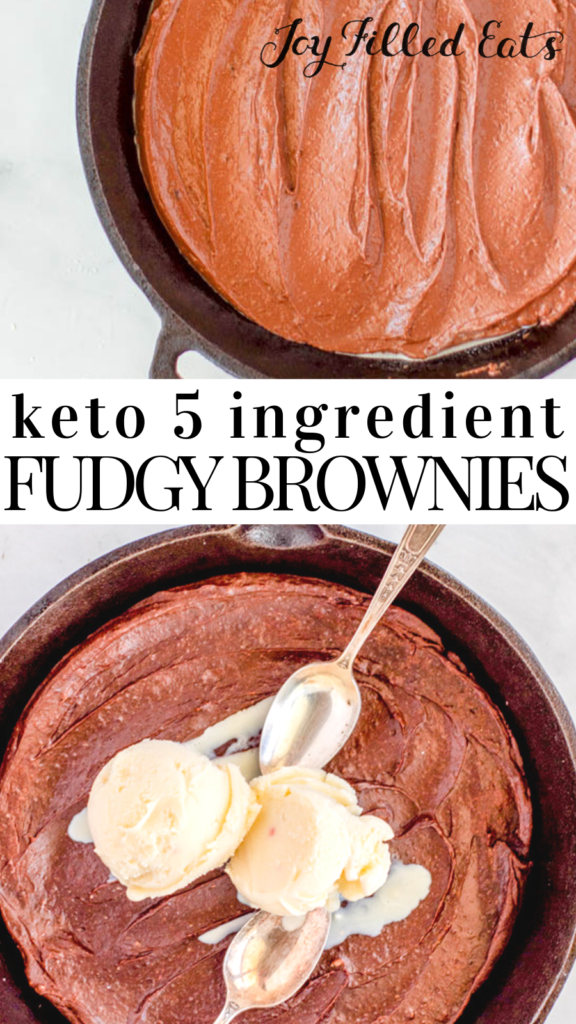 pinterest image for fudgy brownies