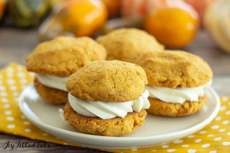 white plate with healthy pumpkin cookies