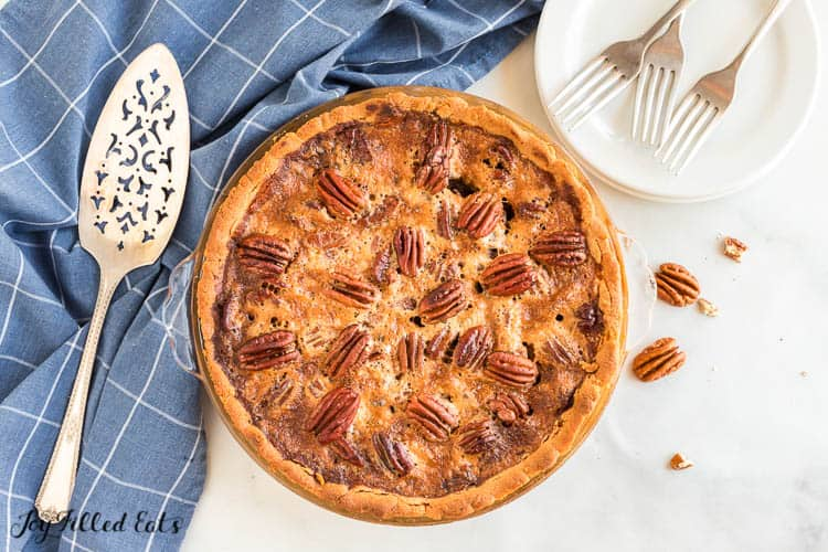 the baked keto pecan pie