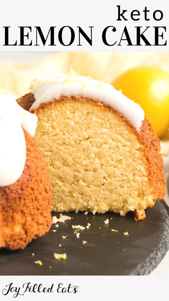 pinterest image for keto lemon cake