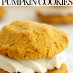 pinterest image for keto pumpkin cookies