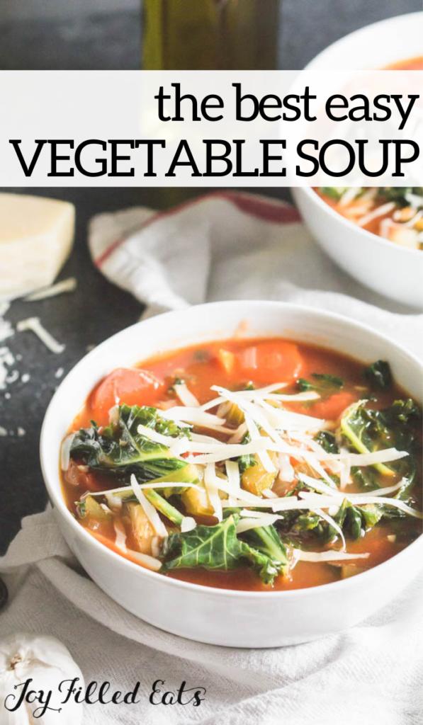 pinterest image for vegetable soup