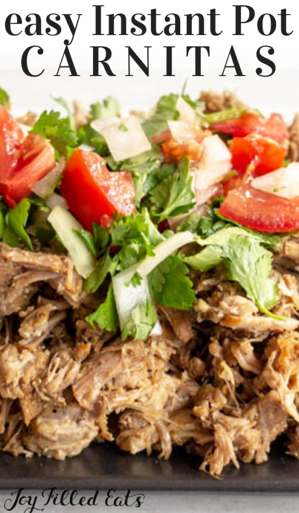 pinterest image for instant pot carnitas