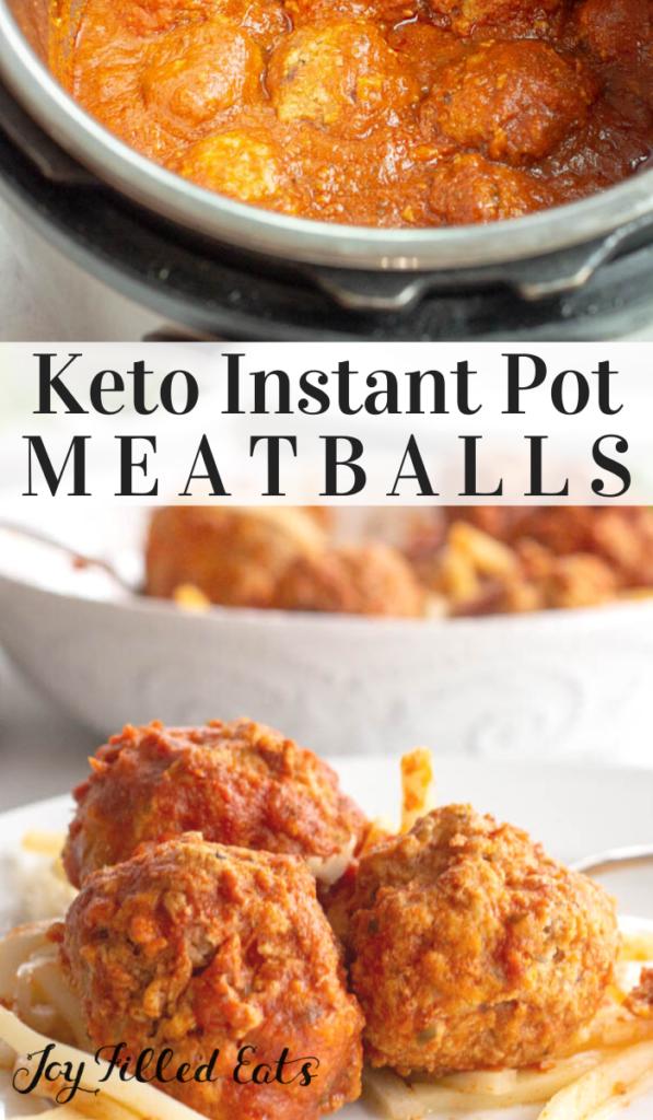 pinterest image for instant pot meatballs