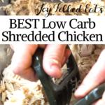 pinterest image for instant pot shredded chicken