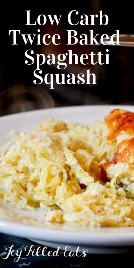 pinterest image for twice baked spaghetti squash