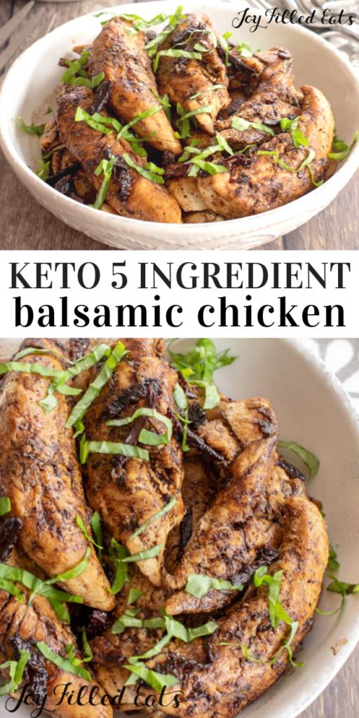 pinterest  image for keto balsamic chicken
