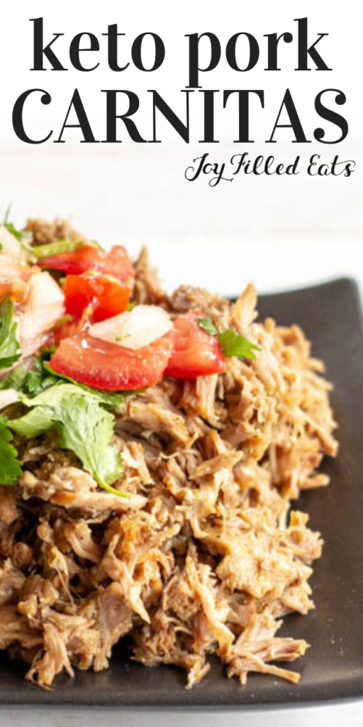 pinterest image for keto pork carnitas