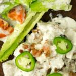 pinterest image for jalapeno popper chicken casserole