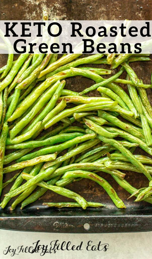 pinterest image for keto roasted green beans