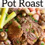 pinterest image for instant pot keto pot roast